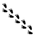 human foot steps vector image vector image