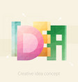 idea text creative idea concept template design vector image