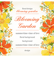 invitation with abstract flowers vector image vector image