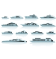 Luxury motor yachts vector image