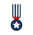 memorial day medal star ribbon honor american vector image vector image