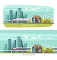 Modern House Cityscape Urban landscape vector image vector image