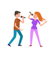 musical performance by couple of singers pair vector image vector image