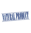 natural product blue grunge vintage stamp isolated vector image vector image