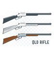 old rifles set in vintage style vector image vector image
