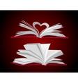 Open book set vector image vector image