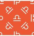 Orange Libra pattern vector image vector image