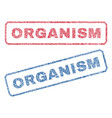 organism textile stamps vector image vector image