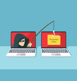 phishing scam hacker attack and web security vector image vector image