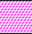 pink geometric volume seamless pattern background vector image vector image