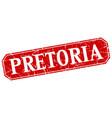 pretoria red square grunge retro style sign vector image vector image