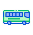 public transport inter-city bus sign icon vector image