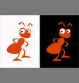 red ant termite graphic image a friendly insect vector image vector image
