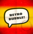Retro speech bubble on halftone card vector image vector image