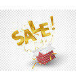 sale celebrations with confetti vector image vector image