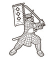 samurai warrior with weapon and armor ronin vector image vector image