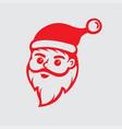 santa icon logo vector image