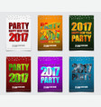 set of color posters for the new years party vector image vector image