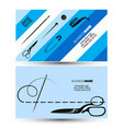 sewing and cutting business card concept vector image vector image