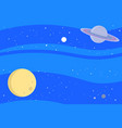 space with planets background vector image vector image