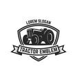tractor emblem farmers market design element for vector image vector image