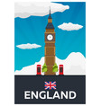 travel poster to england big ban flat vector image vector image