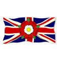 union jack with english rose vector image vector image