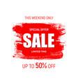 weekend sale banner template vector image
