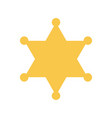 yellow sheriff star vector image