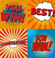 you win posters vector image vector image
