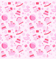 baby girl toys seamless pattern vector image