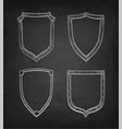 chalk sketch of vintage shields vector image