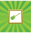 Guitar picture icon vector image