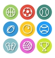 Set of Flat Sports Icons vector image