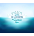 Blurred Sea Background vector image