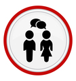 icon with the image of women and men vector image