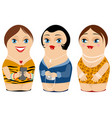 three nested doll vector image