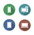Computer electronics icons set vector image