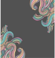 hand drawn doodle hippie background vector image
