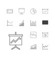 13 graph icons vector image vector image