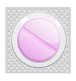 a purple pill sealing in the pack vector image vector image