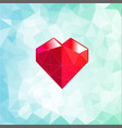 abstract three-dimensional origami heart triangles vector image vector image
