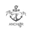 anchor symbol with ribbon vector image
