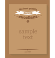 banner menu coffee vector image
