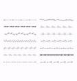 big set hand drawn line borders scribble vector image