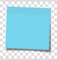 blue paper sticky note glued to surface vector image vector image