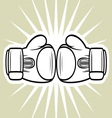 boxing gloves3 vector image