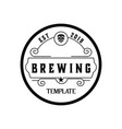 brewery hand written lettering logo label vector image vector image