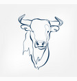 bull animal wild one line design vector image vector image