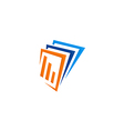business finance data paper logo vector image